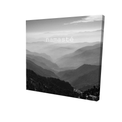 Canvas 24 x 24 - 3D - Namaste monochrome