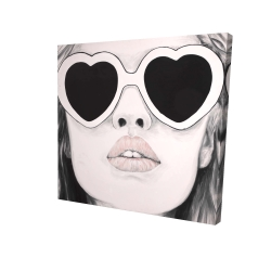 Canvas 24 x 24 - 3D - Mademoiselle in pink