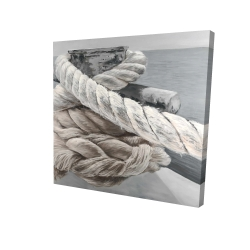 Canvas 24 x 24 - 3D - Twisted boat rope