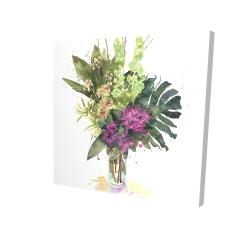 Canvas 24 x 24 - 3D - Tropical flower assemblage