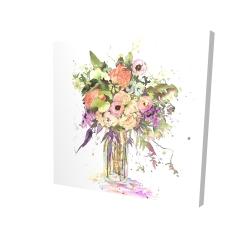 Canvas 24 x 24 - 3D - Romantic bouquet