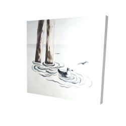 Canvas 24 x 24 - 3D - Seagull