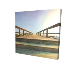 Canvas 24 x 24 - 3D - Footbridge