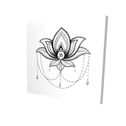 Canvas 24 x 24 - 3D - Ethnic lotus ornament