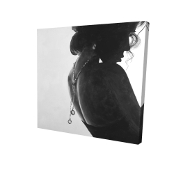 Canvas 24 x 24 - 3D - Chic woman with jewels