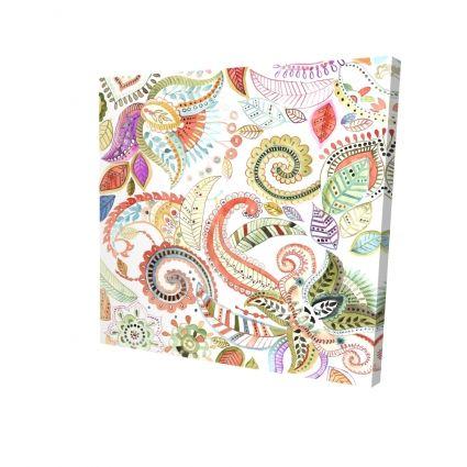 Motifs floraux paisley aquarelle