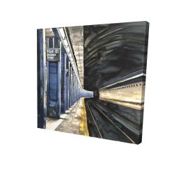 Canvas 24 x 24 - 3D - New-york subway