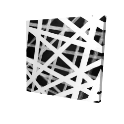 Lignes grasses blanche abstraites