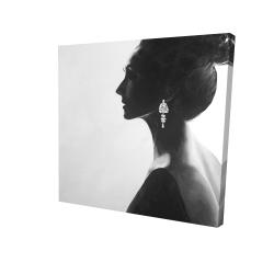 Toile 24 x 24 - 3D - Femme chic