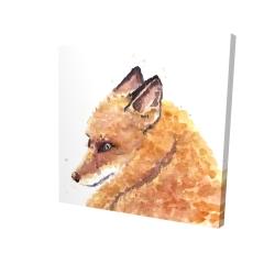 Canvas 24 x 24 - 3D - Fox