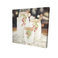 Canvas 24 x 24 - 3D - Christmas candles