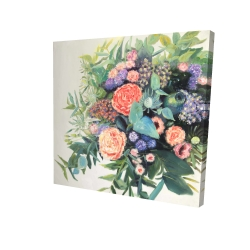 Canvas 24 x 24 - 3D - Flowers melody
