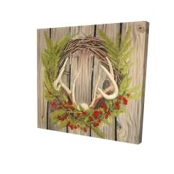 Canvas 24 x 24 - 3D - Christmas wreath with panache
