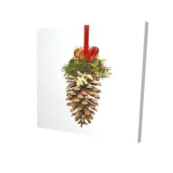 Canvas 24 x 24 - 3D - Christmas pine cone
