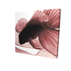 Canvas 24 x 24 - 3D - Two red betta