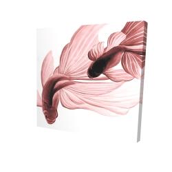 Canvas 24 x 24 - 3D - Red betta fish