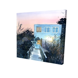 Canvas 24 x 24 - 3D - Beach house