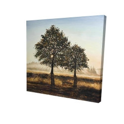 Canvas 24 x 24 - 3D - Trees in the countryside