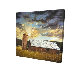 Canvas 24 x 24 - 3D - Hay barn