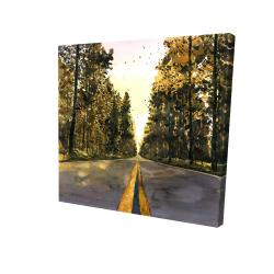 Canvas 24 x 24 - 3D - Long road