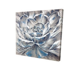 Canvas 24 x 24 - 3D - Gray and blue flower