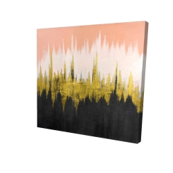 Canvas 24 x 24 - 3D - Abstract zigzag