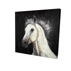 Canvas 24 x 24 - 3D - White star
