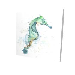 Canvas 24 x 24 - 3D - Sea horse