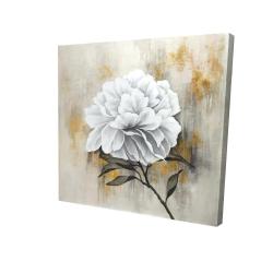 Canvas 24 x 24 - 3D - White peony