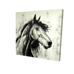 Toile 24 x 24 - 3D - Cheval spirit