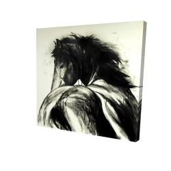 Canvas 24 x 24 - 3D - Classical horse