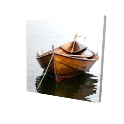 Canvas 24 x 24 - 3D - Rowboat on calm water