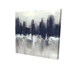 Canvas 24 x 24 - 3D - Dark city