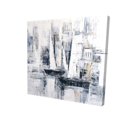 Canvas 24 x 24 - 3D - Industrial style sailboats