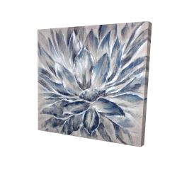 Canvas 36 x 36 - 3D - Blue and gray flower