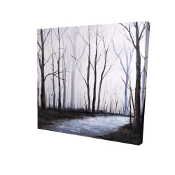 Canvas 24 x 24 - 3D - Sad forest