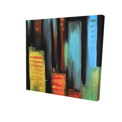 Canvas 24 x 24 - 3D - Abstract tall buildings