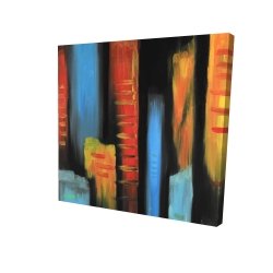 Canvas 24 x 24 - 3D - Abstract and colorful tall buildings