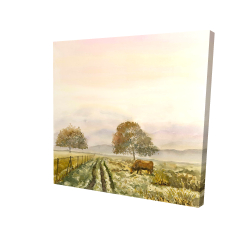 Canvas 24 x 24 - 3D - Sweet morning in the countryside