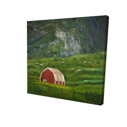 Canvas 36 x 36 - 3D - Life in the countryside
