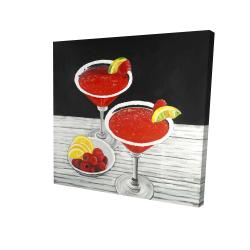 Canvas 24 x 24 - 3D - Two cosmopolitan