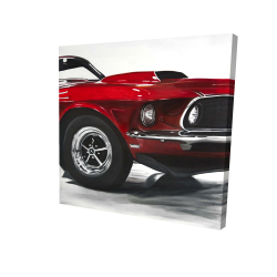 Canvas 24 x 24 - 3D - Classic red car