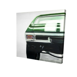 Canvas 24 x 24 - 3D - Classic dark green car
