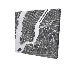 Canvas 24 x 24 - 3D - New-york city plan