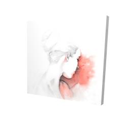 Canvas 24 x 24 - 3D - Pastel woman