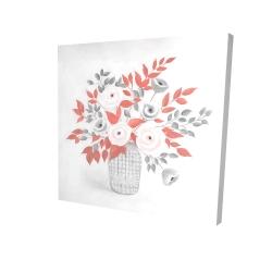 Canvas 24 x 24 - 3D - Flower illustration