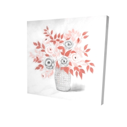 Canvas 24 x 24 - 3D - Coral flower illustration