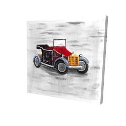 Canvas 24 x 24 - 3D - Vintage car with sunroof