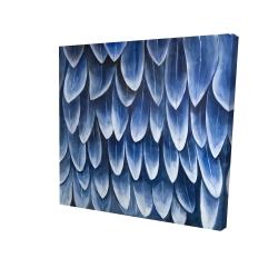 Canvas 24 x 24 - 3D - Plumage blue