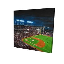 Toile 24 x 24 - 3D - Partie de baseball